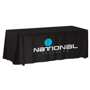6' NON-FITTED Front Print ONLY Table Cover (with Stock Fabric Colour)