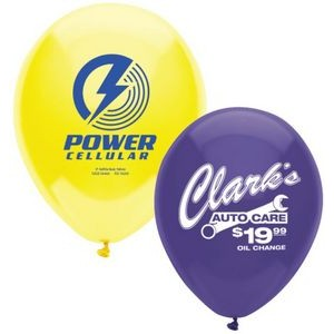 "11"" AdRite Crystal/Fun Color Economy Line Latex Balloon"